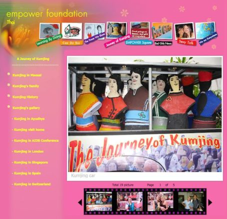 snapshot of Empower website