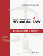 Thumbnail of front cover of Executive Summary of the Global Commission on HIV and the LAW - Risks, Rights and Health