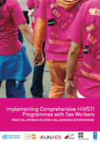 """Thumbnail of the front cover of the booklet with short title """"SWIT"""" (Sex work implementation tool.)"""