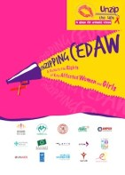 "front cover of the advocacy guide titled ""Unzipping CEDAW"""