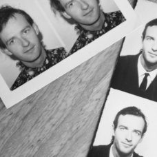 black and white passport photos of Andrew Hunter as